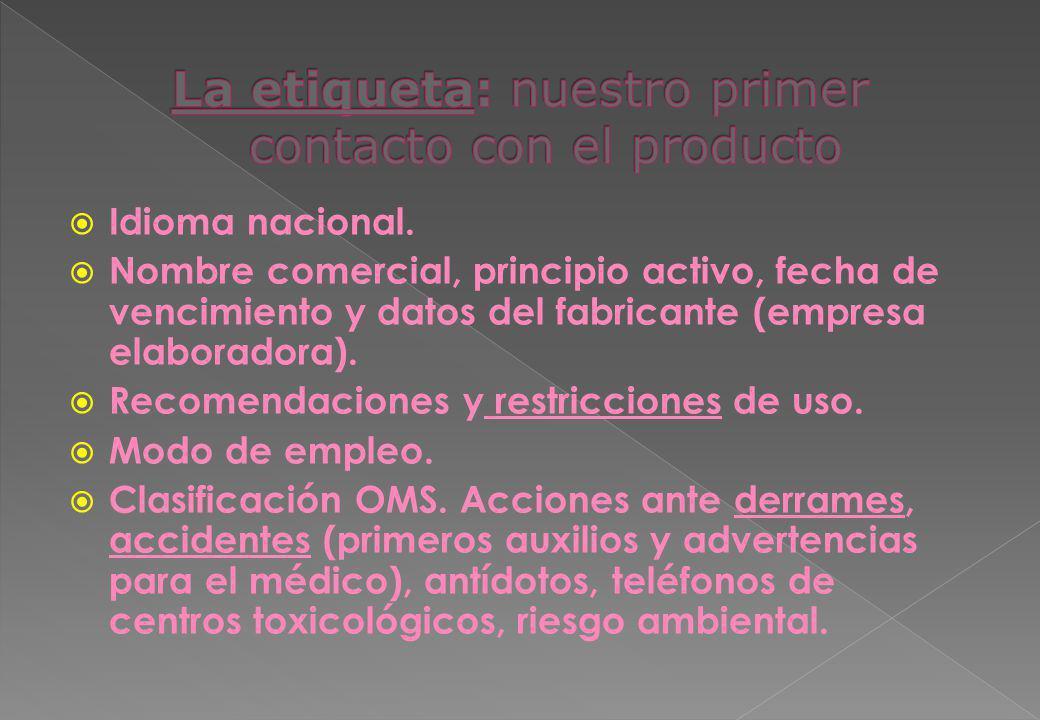 La etiqueta: nuestro primer contacto con el producto