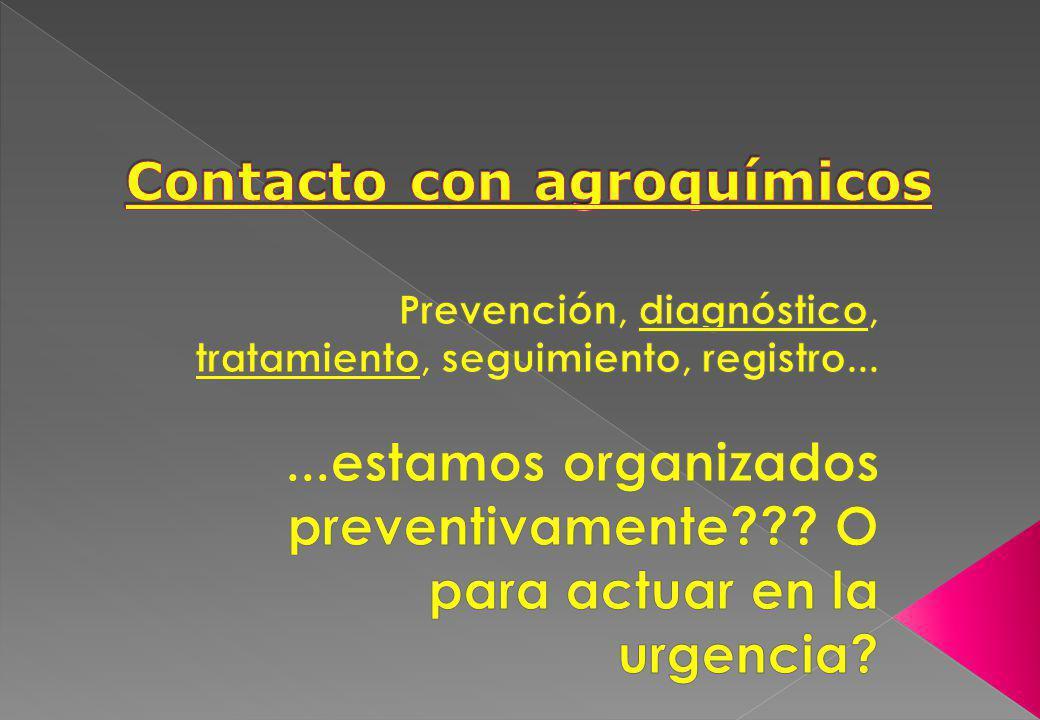 Contacto con agroquímicos
