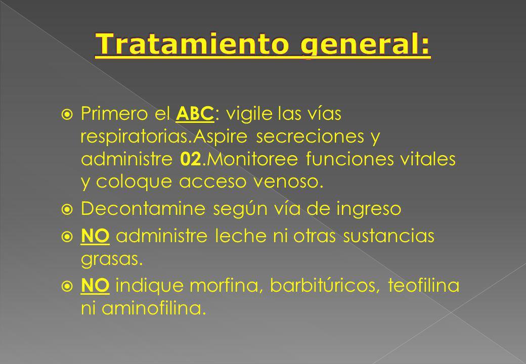 Tratamiento general: