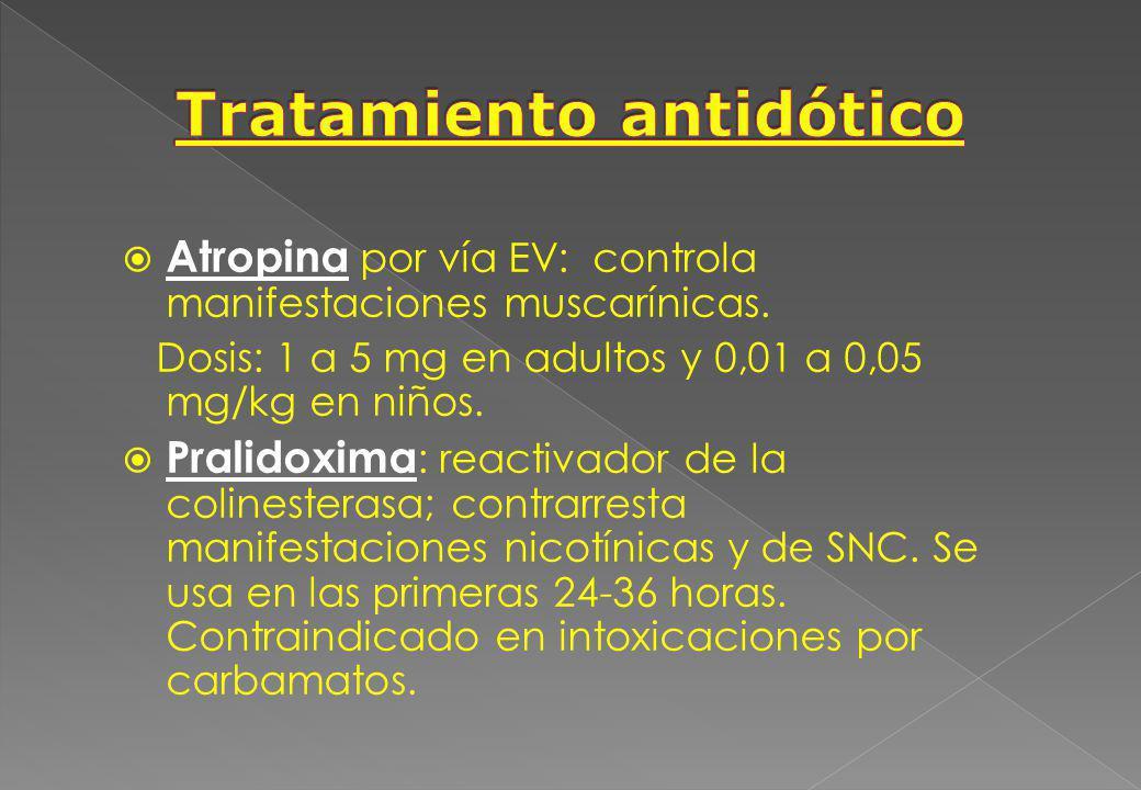 Tratamiento antidótico