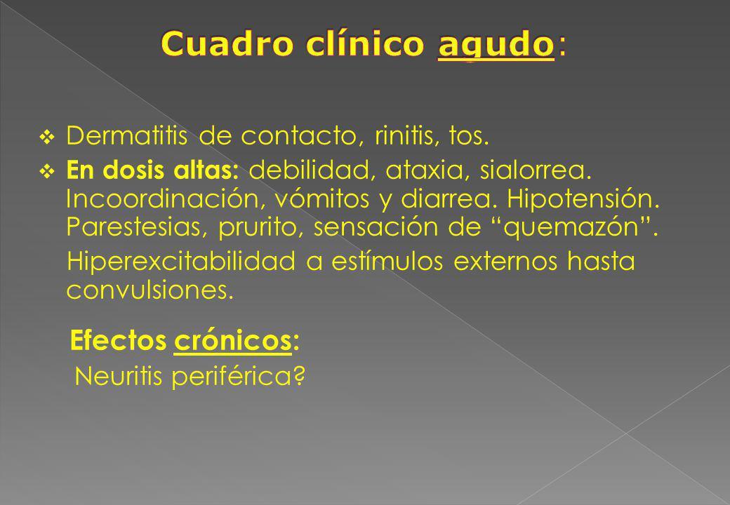 Cuadro clínico agudo: Efectos crónicos: