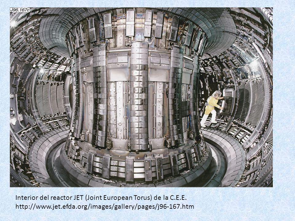 Interior del reactor JET (Joint European Torus) de la C. E. E