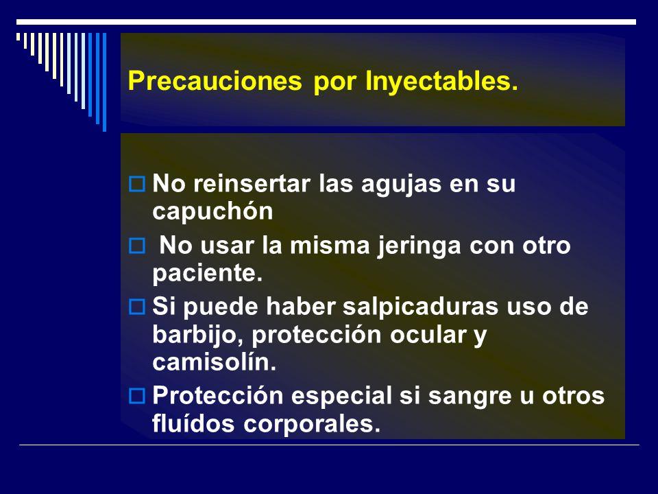Precauciones por Inyectables.