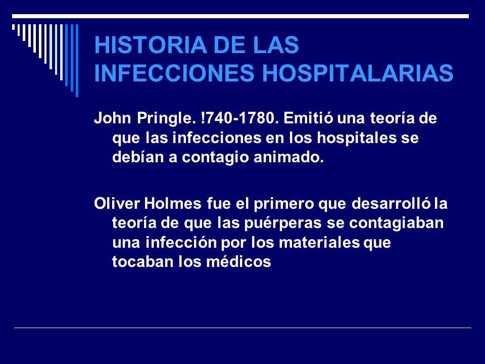 HISTORIA DE LAS INFECCIONES HOSPITALARIAS