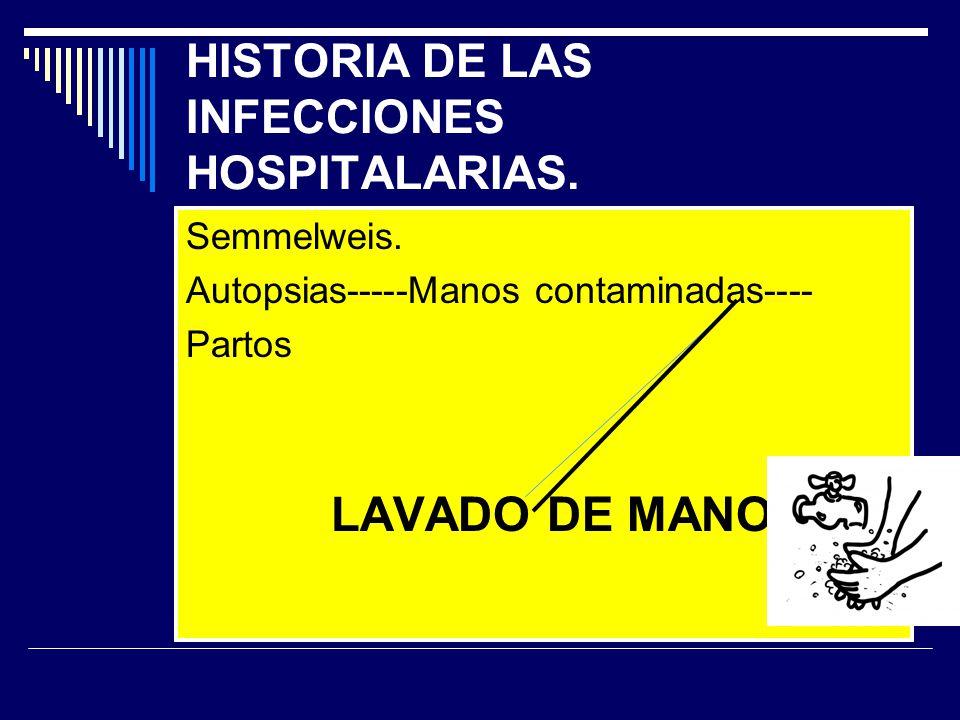 HISTORIA DE LAS INFECCIONES HOSPITALARIAS.