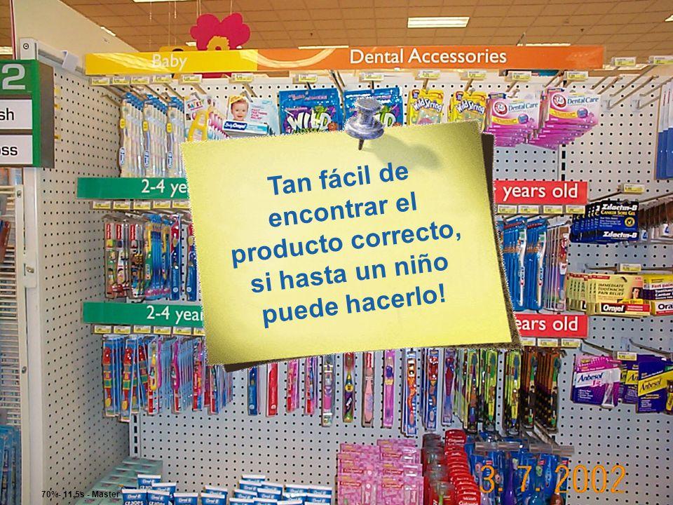 Tan fácil de encontrar el producto correcto, si hasta un niño puede hacerlo!