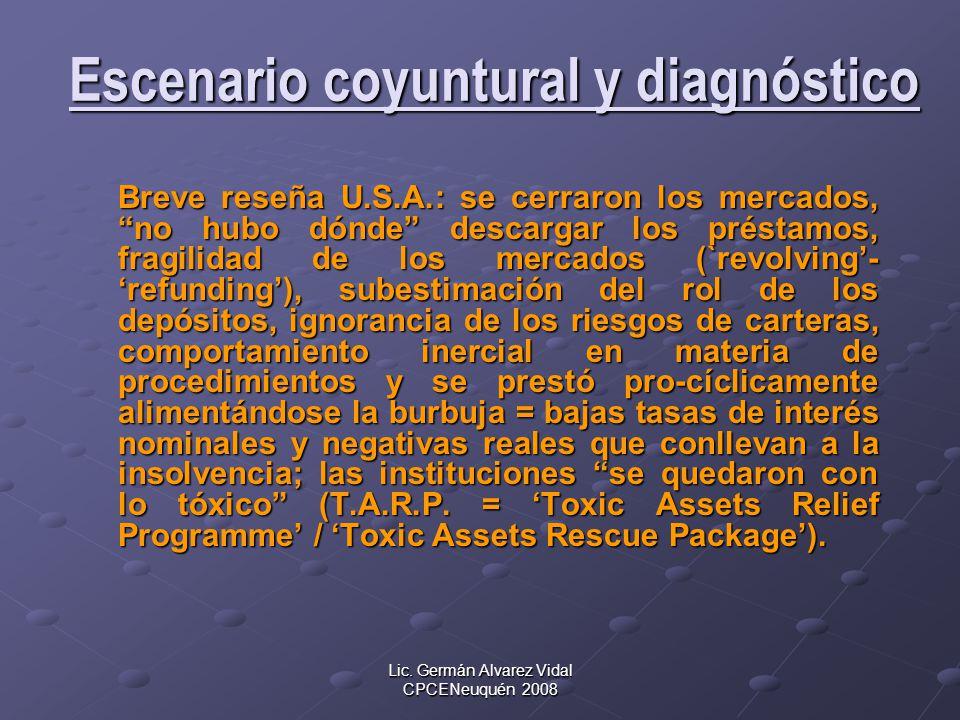 Escenario coyuntural y diagnóstico