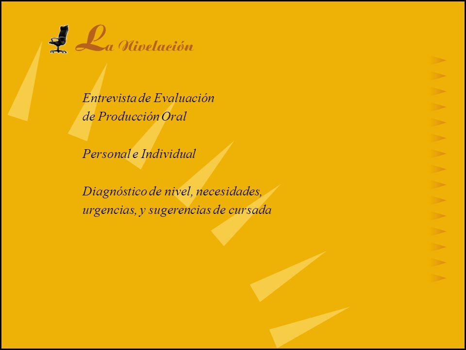 La Nivelación Entrevista de Evaluación de Producción Oral