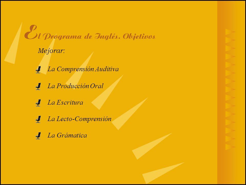 El Programa de Inglés. Objetivos