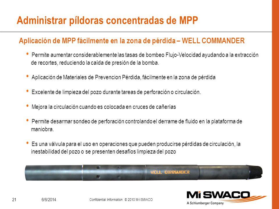Administrar píldoras concentradas de MPP