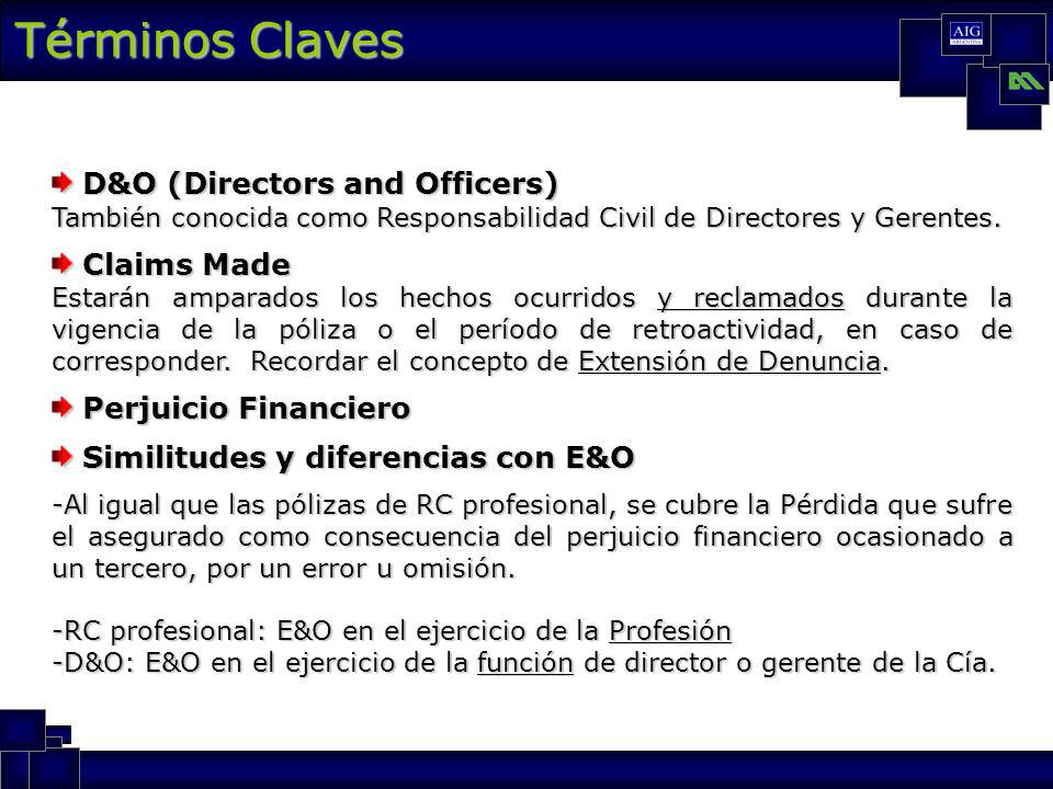 Términos Claves D&O (Directors and Officers) Claims Made