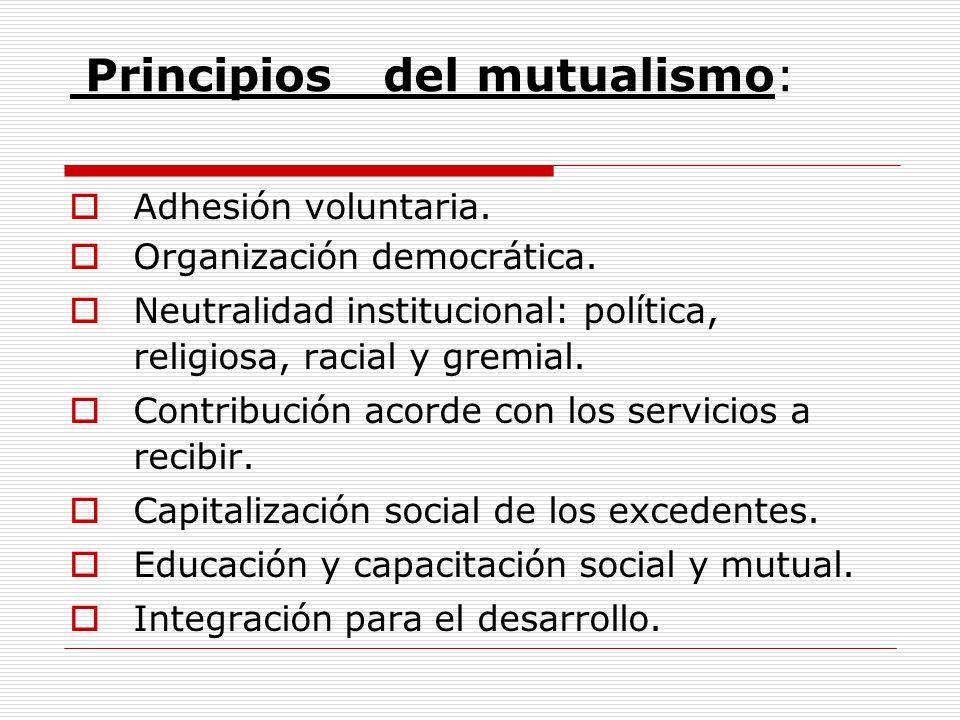 Principios del mutualismo: