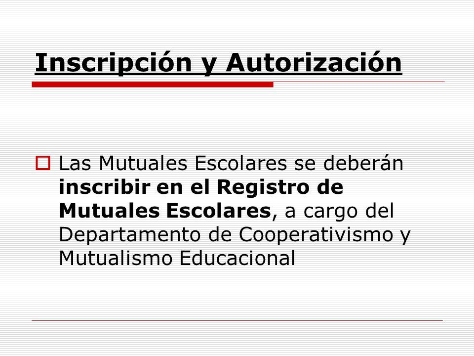 Inscripción y Autorización