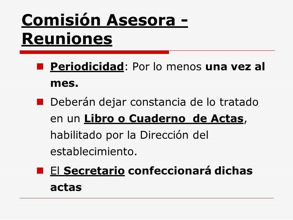 Comisión Asesora - Reuniones