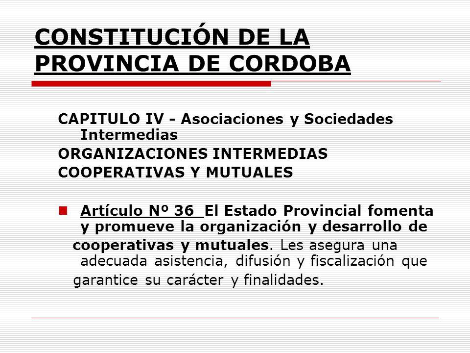 CONSTITUCIÓN DE LA PROVINCIA DE CORDOBA