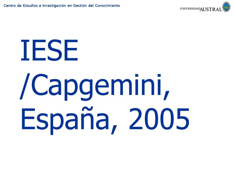 IESE /Capgemini, España, 2005