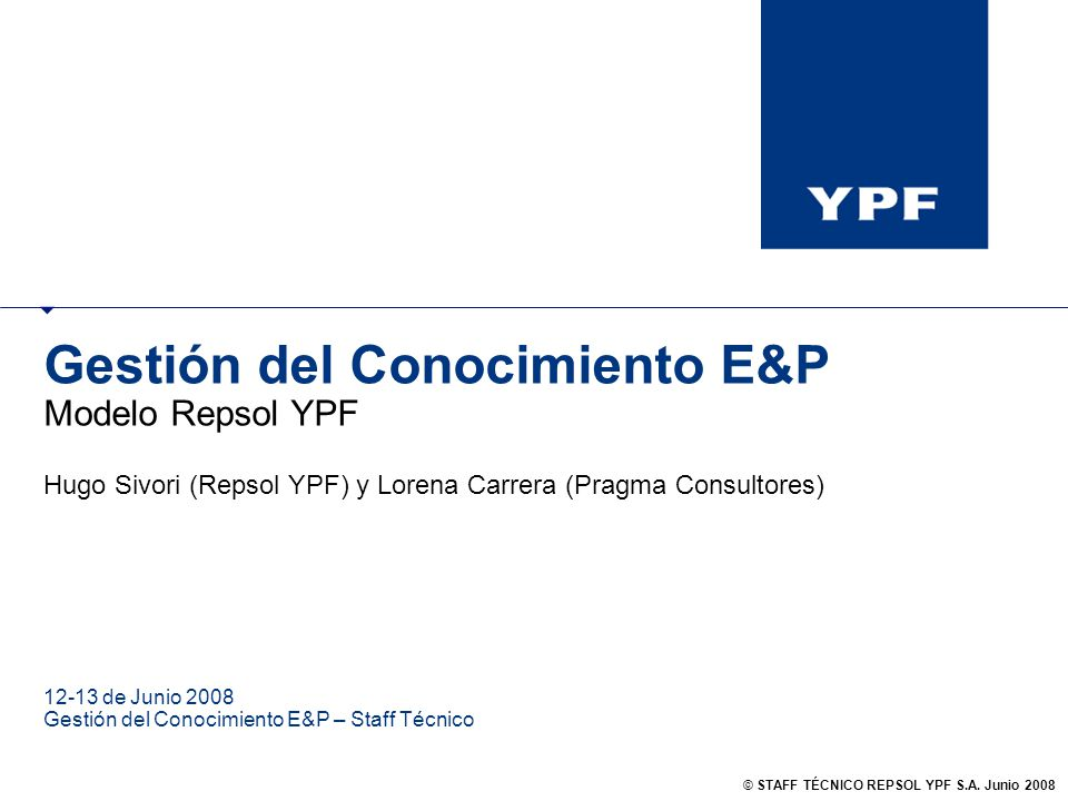 Gestión del Conocimiento E&P