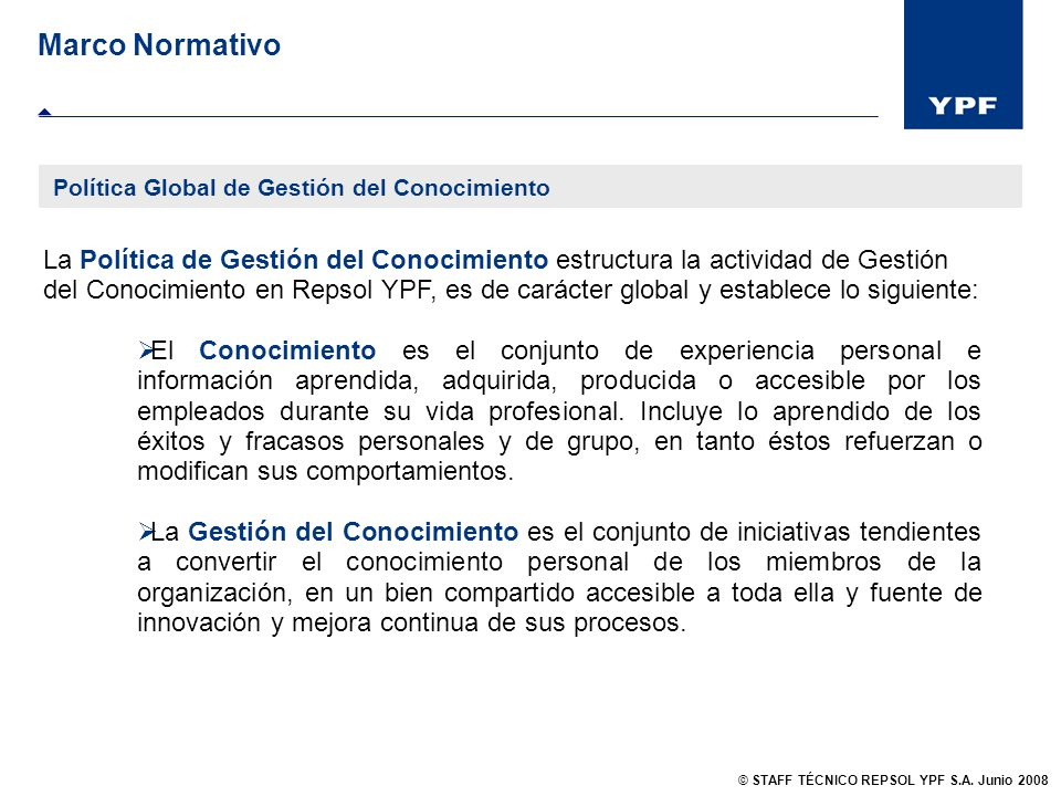 Marco Normativo Política Global de Gestión del Conocimiento.