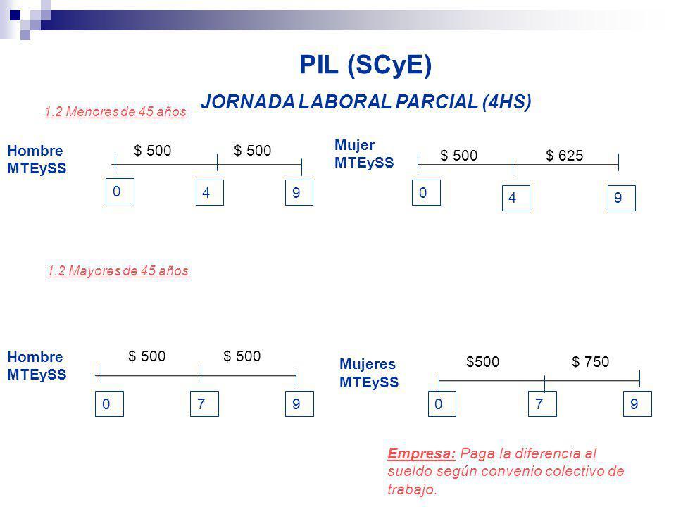 JORNADA LABORAL PARCIAL (4HS)