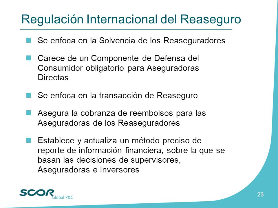 Regulación Internacional del Reaseguro