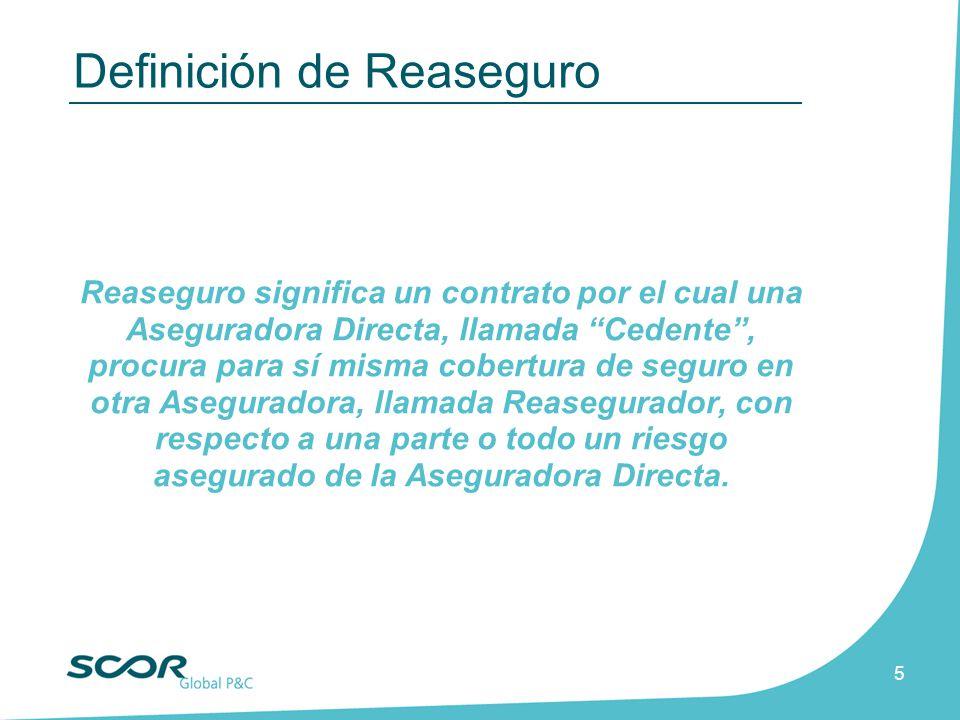 Definición de Reaseguro