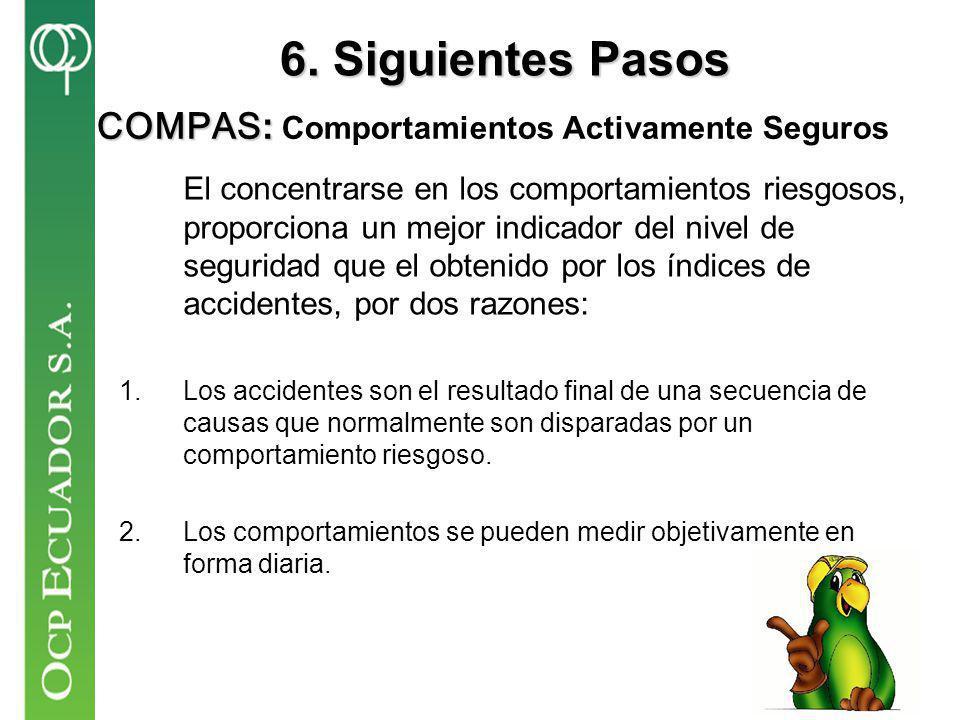 6. Siguientes Pasos COMPAS: Comportamientos Activamente Seguros