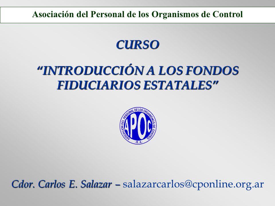 CURSO INTRODUCCIÓN A LOS FONDOS FIDUCIARIOS ESTATALES