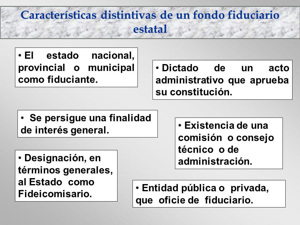 Características distintivas de un fondo fiduciario estatal
