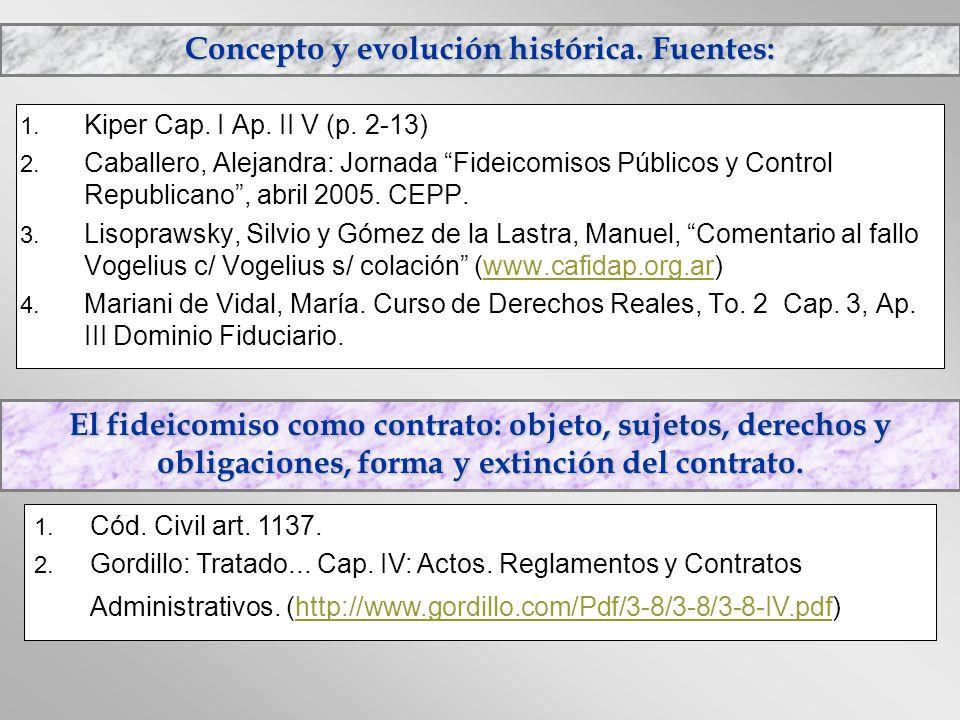 Concepto y evolución histórica. Fuentes: