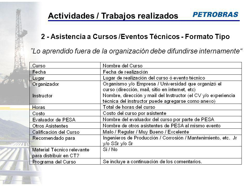 2 - Asistencia a Cursos /Eventos Técnicos - Formato Tipo