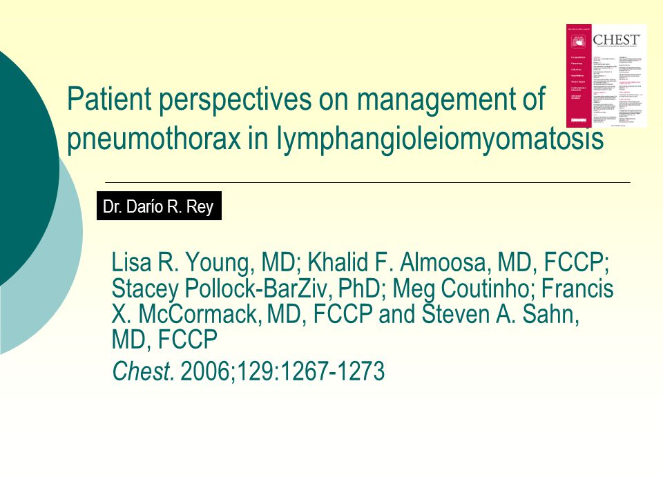 Patient perspectives on management of pneumothorax in lymphangioleiomyomatosis