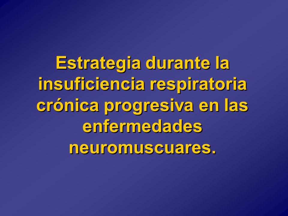 Estrategia durante la insuficiencia respiratoria crónica progresiva en las enfermedades neuromuscuares.