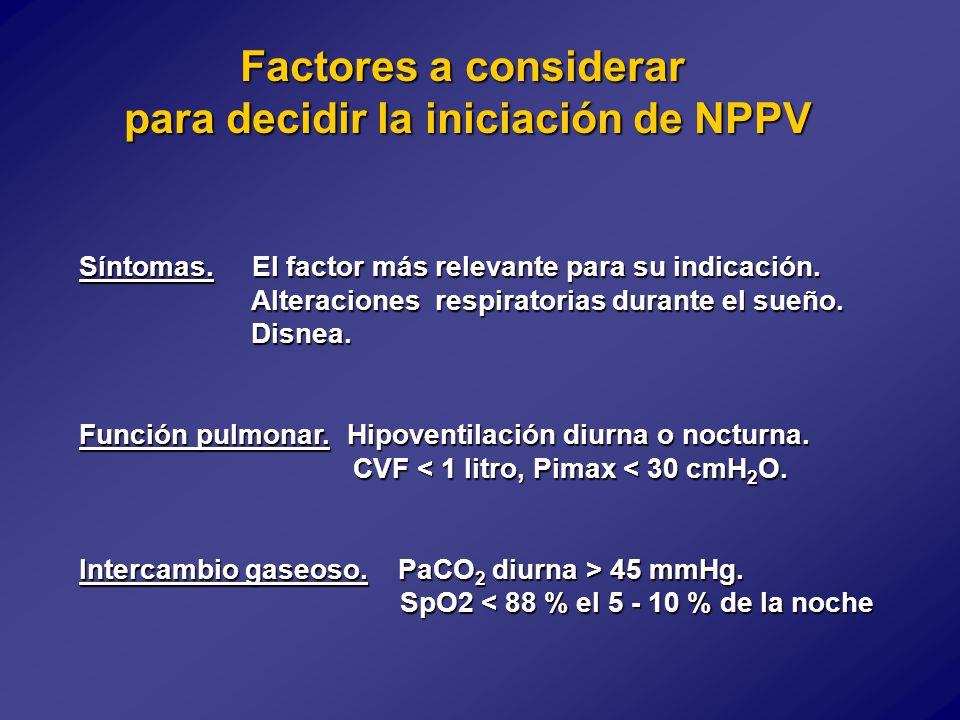 para decidir la iniciación de NPPV