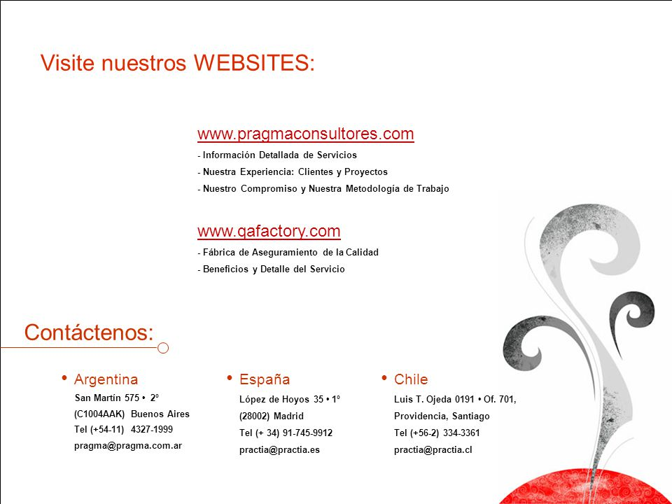 Visite nuestros WEBSITES: