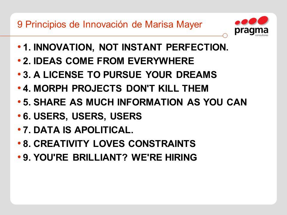 9 Principios de Innovación de Marisa Mayer