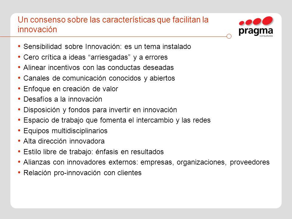Un consenso sobre las características que facilitan la innovación