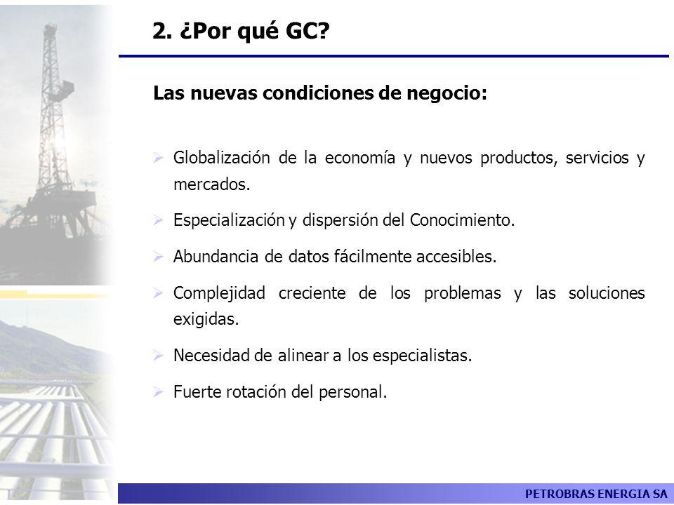 2. ¿Por qué GC Las nuevas condiciones de negocio: