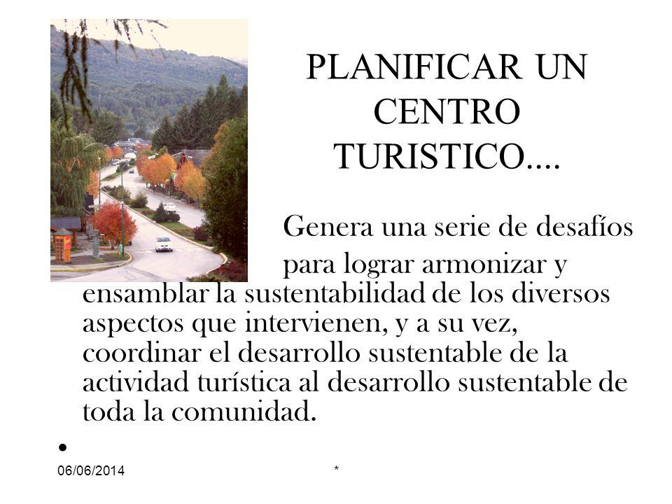 PLANIFICAR UN CENTRO TURISTICO....