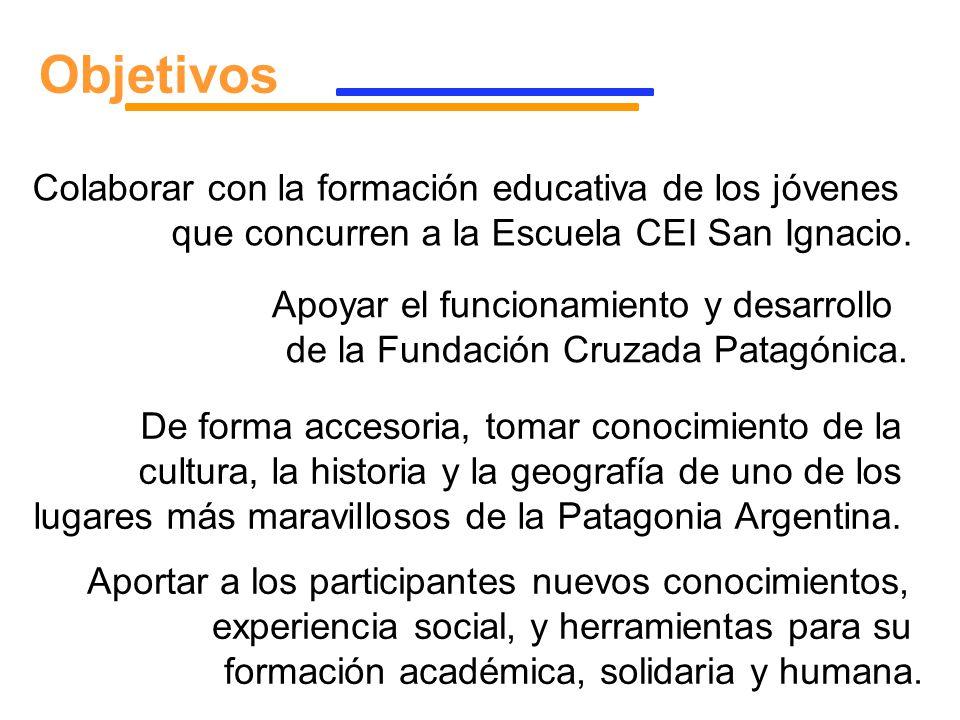 Objetivos Colaborar con la formación educativa de los jóvenes