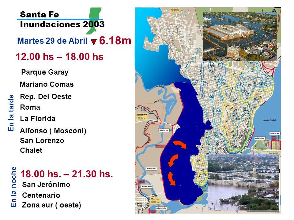 Santa Fe Inundaciones 2003 6.18m. Martes 29 de Abril. 12.00 hs – 18.00 hs. Parque Garay. Mariano Comas.