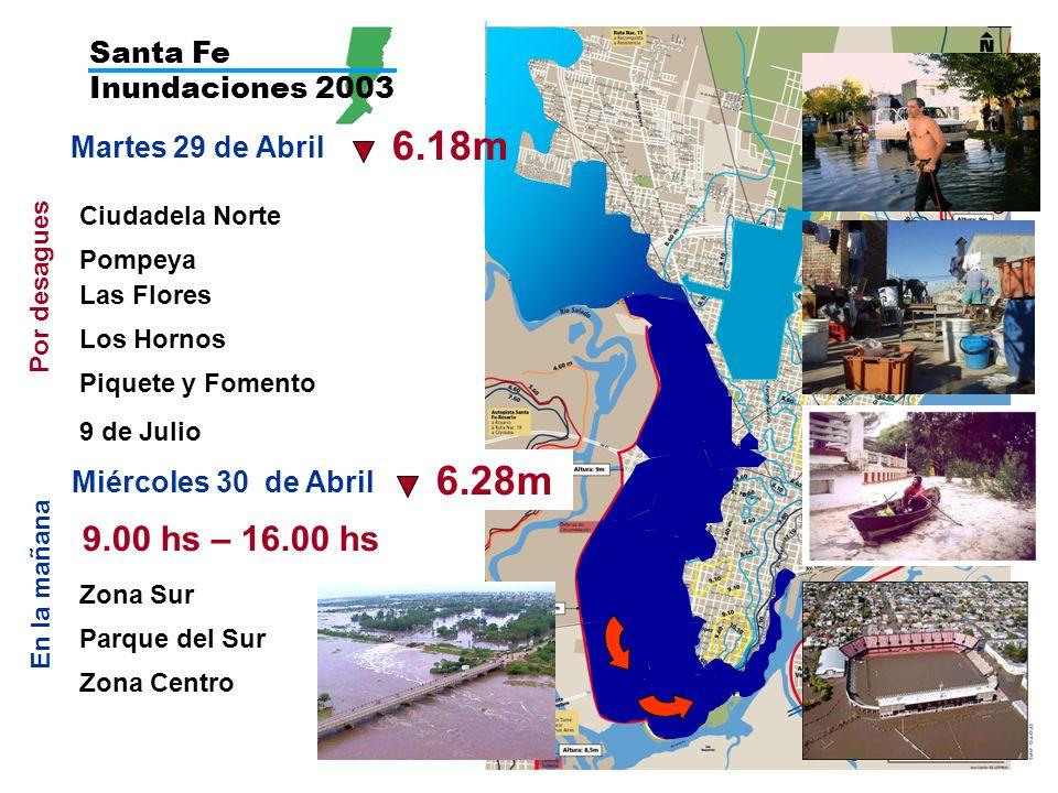 6.18m 6.28m 9.00 hs – 16.00 hs Santa Fe Inundaciones 2003