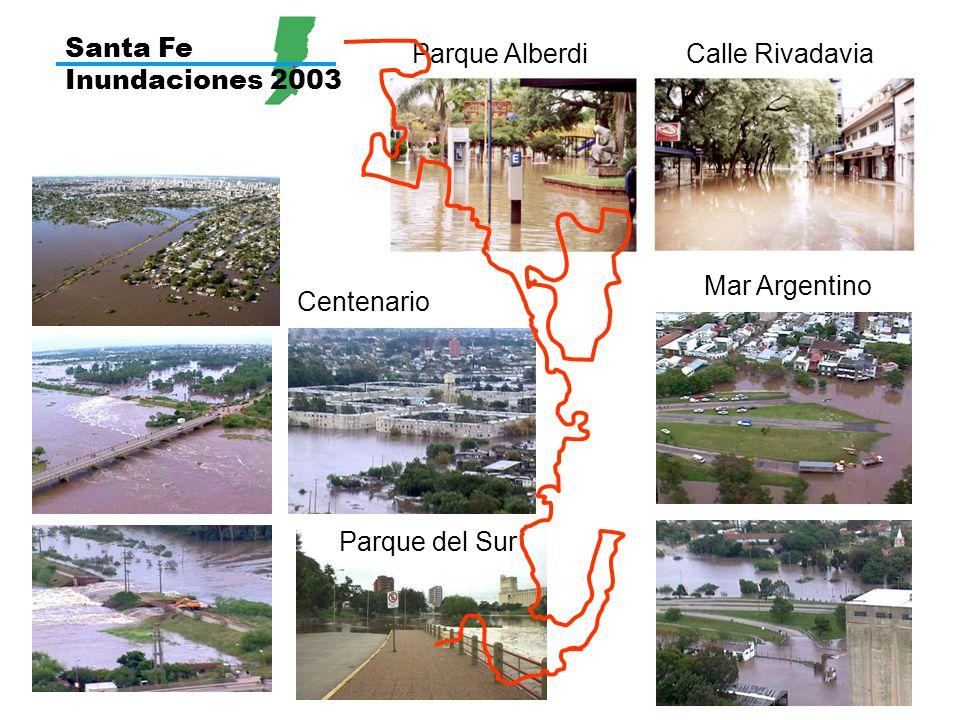 Santa Fe Inundaciones 2003 Parque Alberdi Calle Rivadavia Mar Argentino Centenario Parque del Sur