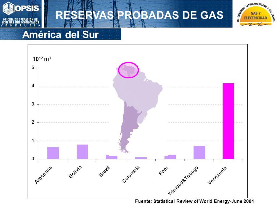 RESERVAS PROBADAS DE GAS