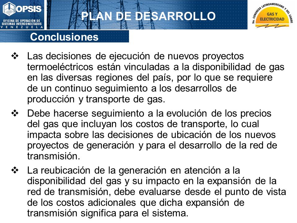 PLAN DE DESARROLLO Conclusiones