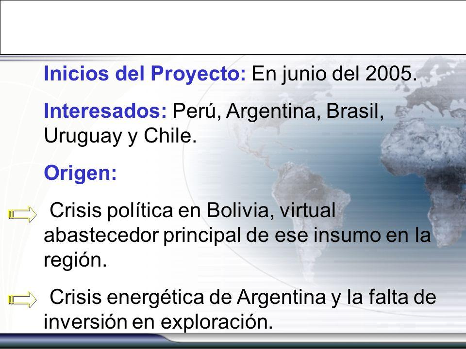 Inicios del Proyecto: En junio del 2005.