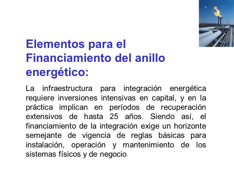 Elementos para el Financiamiento del anillo energético: