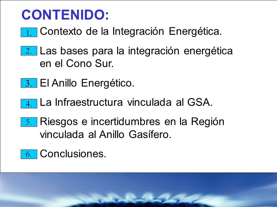 CONTENIDO: Las bases para la integración energética en el Cono Sur.