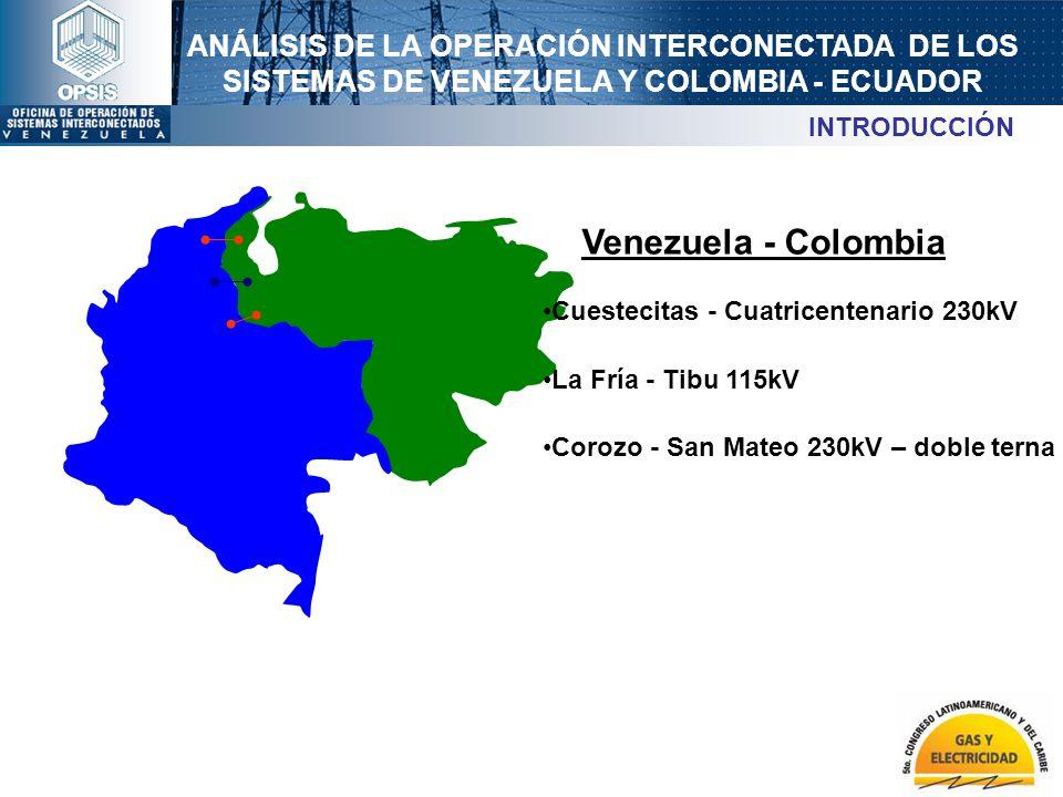 Venezuela - Colombia INTRODUCCIÓN Cuestecitas - Cuatricentenario 230kV