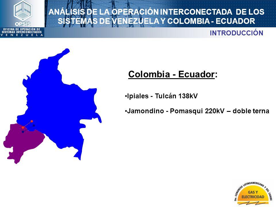 Colombia - Ecuador: INTRODUCCIÓN Ipiales - Tulcán 138kV