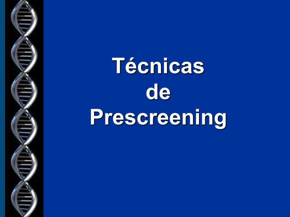 Técnicas de Prescreening
